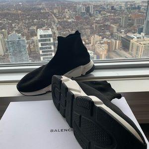 Men's Balenciaga Speed Sneaker - Black - Size 45